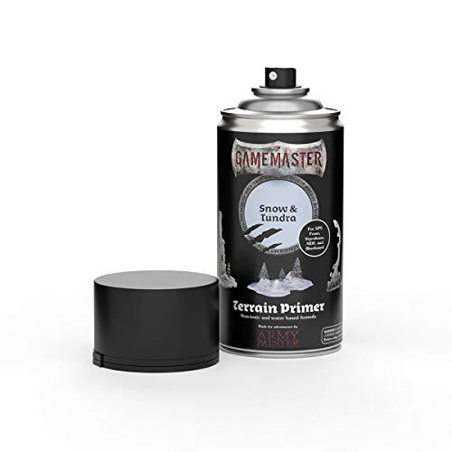 The Army Painter   Gamemaster Terrain Primer   400 ml   Espray de Pintura Acrílica   para Juego de guerra y de rol   escenografía para Wargames y figuras miniatura   Snow & Tundra