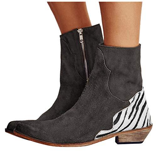 St.Dona_Shoes Stiefeletten für Damen, modisch, Herbstschuhe, modisch, Reißverschluss, Knöchelstiefel - - 39