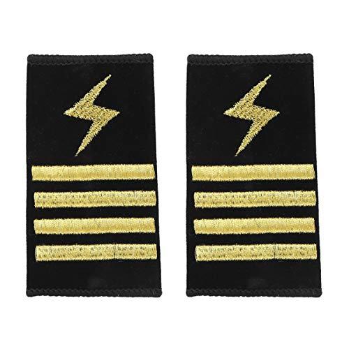 FEESHOW Schulterklappen Pilot Kapitän Streifen Epaulet Fluggesellschaft Marine Kostüm Uniform Zubehör Schulter Schmuck Typ C Four Bars One Size