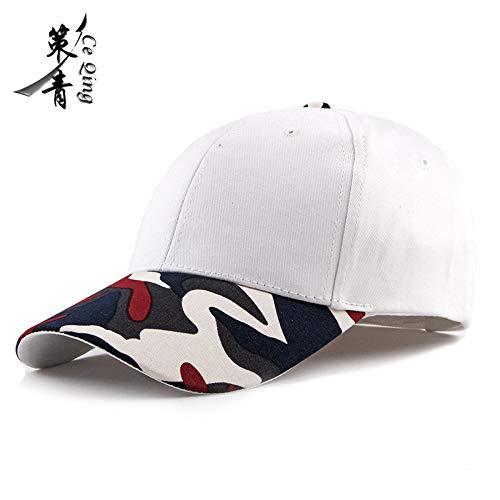 sdssup Sonnenhut Unisex Entenzunge Hut weibliche Tarnung Hut hat + weiße Kappe einstellbar