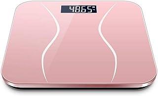 KLT Báscula Báscula de Pesaje Báscula de Baño Báscula Digital Cuerpo Rosa Negro Equilibrio Digital Grasa 180Kg
