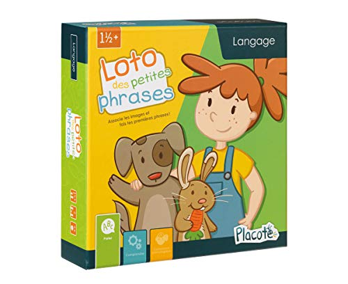 Placote-La Loto des Petites Phrases Jeu Éducatif 1 1/2 an à 3 Ans, PLA3