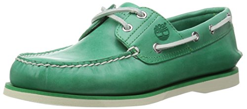 Timberland Icon Classic 2-Tone 2-Eye, zapatos barco hombre, (Verde), 41.5