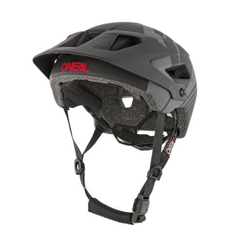 O'NEAL | Mountainbike-Helm | Enduro All-Mountain | Belüftungsöffnungen für Kühlung, Polster waschbar, Sicherheitsnorm EN1078 | Helmet Defender Nova | Erwachsene | Schwarz Grau | Größe S M