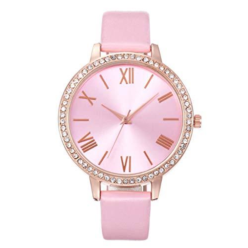 Relojes Para Mujer Relojes de mujer Dial de la moda Dial DIGIT ROMANO DIGIT CASO DE LADAS Cinturón Reloj con diamantes Reloj de cuarzo a escala romana Relojes Decorativos Casuales Para Niñas Damas