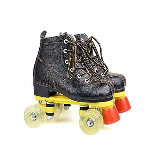 Adult Skates Roller, High-Top Indoor/Outdoor Quad Roller Skates Mit Schlüssel, Tresor Stilvolle Roller Skating-Schuhe Für Erwachsene Jugend,D,42