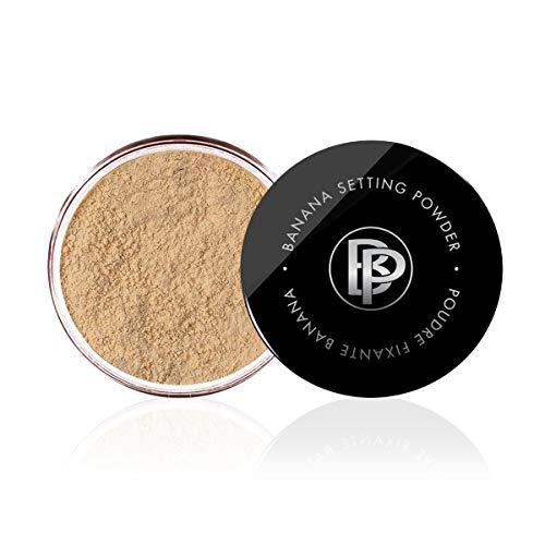Bellapierre Banana Setting Powder | Lightweight Color-Correcting Powder with All Day Makeup Protection | Eliminates Blotchiness and Dark Under-Eye Circles | Matte Tint - Medium - 0.14 Oz
