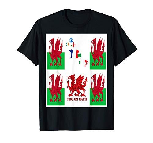 Galles Rugby Fan Baner Cymru Flag Design Maglietta