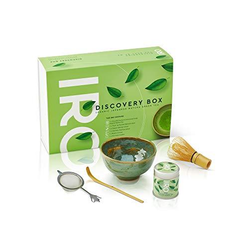IRO Discovery Box Té Verde Matcha Biológico japonés en polvo Premium Ceremonial, set de iniciación al ritual del té Matcha, contiene todo para preparar el té Matcha a la perfección