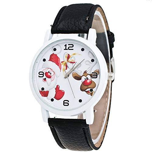 Sanwood montre de Noël, enfants Chiffres arabes Père Noël Cerf simili cuir montre bracelet Cadeau