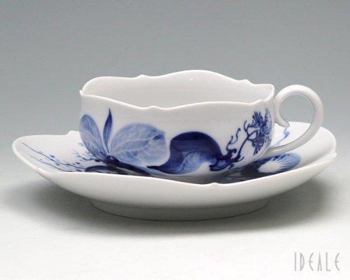 Meissen Teetasse m.U, Form Großer Ausschnitt, Orchidee auf AST, V 0,11 l