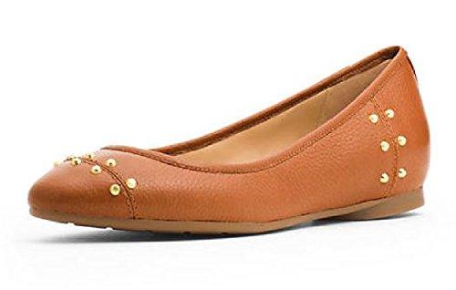 Women's Michael Kors Astor Flats Studs Leather Acorn (7.5)