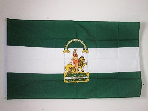 AZ FLAG Bandera de ANDALUCÍA 150x90cm - Bandera ANDALUZA 90 x 150 cm poliéster Ligero
