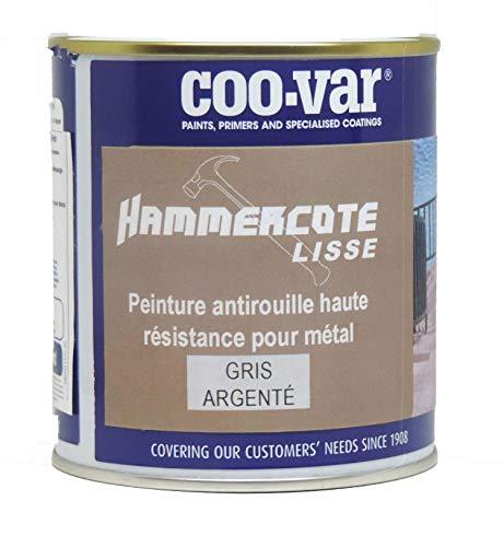 Coo-Var Hammercote Smooth (5 L), color plateado