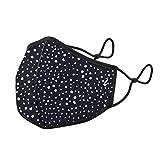 Abbacino mascarilla adulto lavable negra topos…