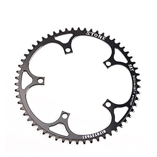 cadena de velocidad Cainado de la bicicleta de la pista de engranajes fijos BCD144 144mm Ruta de carretera Cadena de la cadena de la cadena de la cadena de la rueda de la rueda de los dientes de ancho