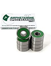 Amphetamine ABEC-7 Skateboard Bearings / 8 Ball Bearings - Bearing Set