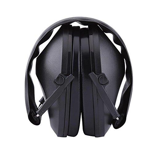 Akozon Lärmschutz Gehörschützer Gehörschutz für Arbeitsaufnahmen Intelligente Ohrschützer mit effektiver Schalldämmung speziell für Jäger & Sportschützen Dynamische Geräusch(Schwarz)