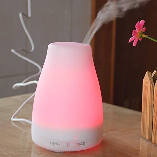 Ultra Quiet Kleurrijk nachtlampje, luchtbevochtiger, ultrasone etherische olie, aromaverstuiver voor thuis, kantoor, auto, beste verjaardagscadeau wit