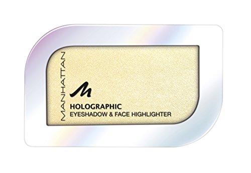 Manhattan Holographic Ombre Eyeshadow, Farbe 004 Gilded Moon, Lidschatten mit holographischem Effekt in Gold, 1er Pack (1 x 4 g)