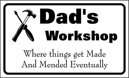 niet Dad's Workshop Metalen tin teken schilderij decoratie Populaire IJzeren Schilderij Poster Voor bar cafe eetkamer huis club