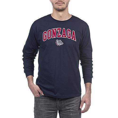 Elite Fan Shop NCAA Gonzaga Bulldogs Herren Langarmshirt, Marineblau, XL