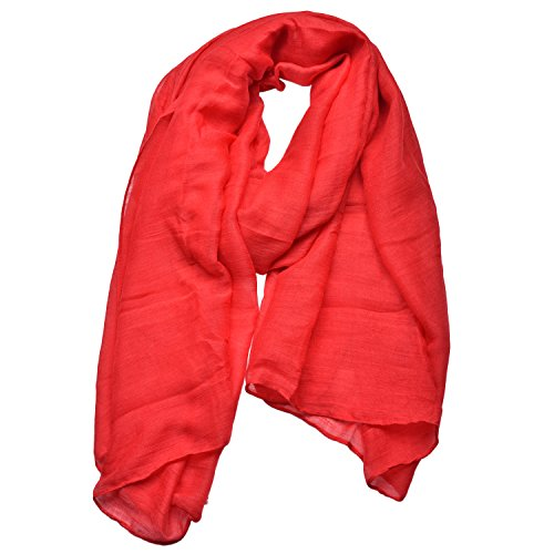 Woogwin Light Soft Scarves Fashion Scarf Shawl Wrap For Women Men (Red)