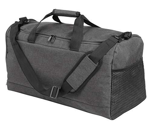 Sporttasche Reisetasche 54x31x26 Fitnesstasche 560Gr Schuhfach Tasche Grau BWI