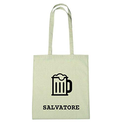 JOllify Baumwolltasche - Happy Birthday für SALVATORE - Bier Gruß