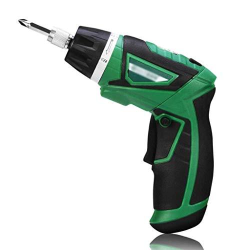 Sicherheitsschraubendreher und Akku-Bohrschrauber mit 3,6 V Lithium-Ladung (10 Stück) (Color : Green)