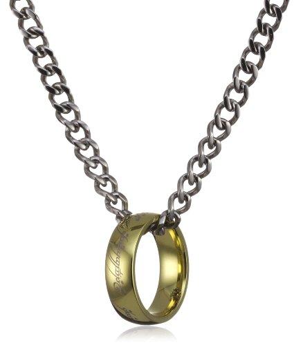 Herr der Ringe Schmuck by Schumann Design Der eine Ring Stahl vergoldet an Kette Edelstahl 1007-001