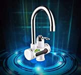 SP Enterprise Stainless Steel Heater Water Faucet Tap | Electric Hot and Cold Water Geyser Tap [White]