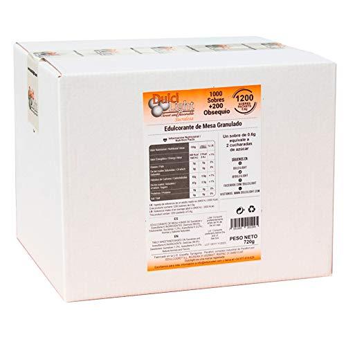 SUCRALOSA Ecologica Natural Edulcorante Granulado Dulcilight 1200 SOBRES, Producto SABOR Y CALIDAD PREMIUM