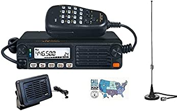 Radio and Accessory Bundle - 4 Items - Includes Yaesu FTM-7250DR 50W Dual Band C4FM/FM Mobile Radio, Comet Dual Band Mag-Mount Antenna, Yaesu External Speaker and Ham Guides TM Quick Reference Card