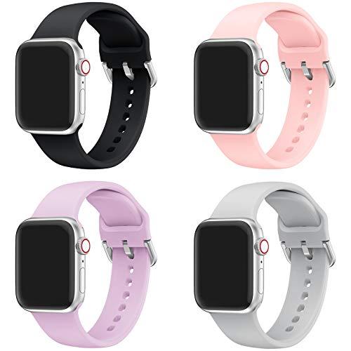 YSSNH Compatibile per Apple Watch 38mm 42mm Cinturino in Silicone Morbido Modello Cinturino di Ricambio per iWatch Series 6,Series 5,Series 4,Series 3,Series 2,Series 1