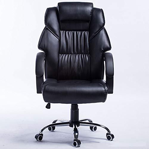 Office Chair Office Swivel Chair with High Back Large Seat and Tilt Function Executive Swivel Computer Chair PU (Color : Black)