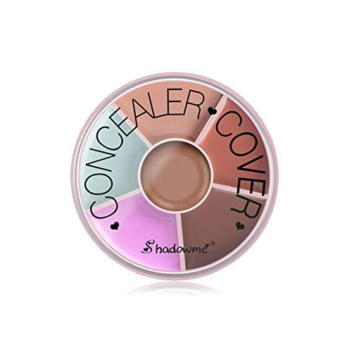 ColorfulLaVie 6 Couleurs Crème correcteur, Couvrir les imperfections de l'acné éclaircir la couleur de la peau