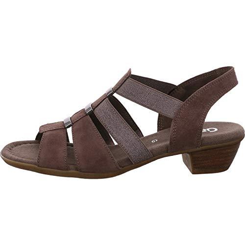 Gabor Comfort 22.472-78 Damen elegante Sandalette aus Veloursleder in Weite G, Groesse 35, taupe