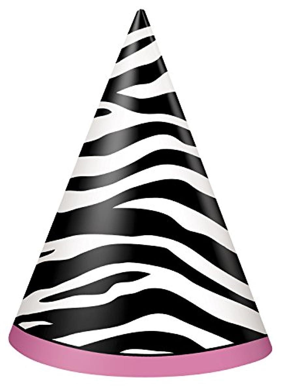 Zebra Print Party Hats, 8ct