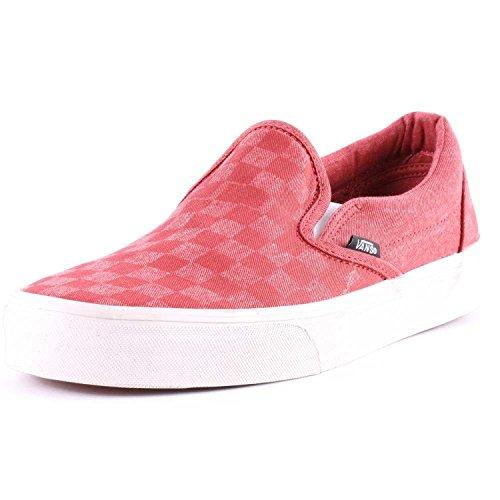 Vans Vans Schuhe Classic Slip-on Over Washed Rot Tango/Checker