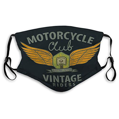 Olive Croft Mouth Cover Unisex Face Cover Motorcycle Typographic Poster illustratoin