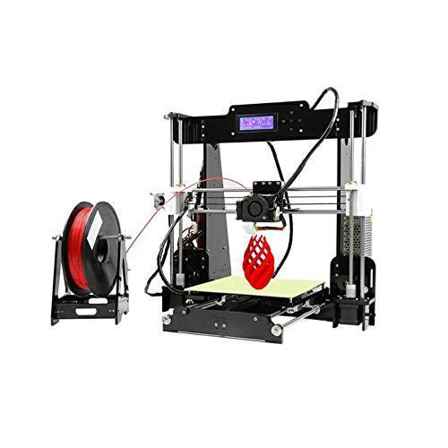 Fanuosu Imprimante 3D Haute Précision DIY 3D Kit imprimante / 1.75mm 0.4mm Support ABS/PLA/Hips Grand Volume d'impression (Couleur : Noir, Taille : 50X40X45CM)