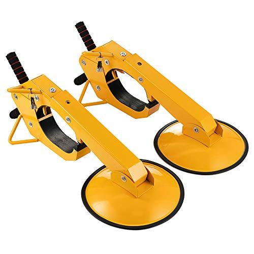 Hihone Steel Wheel Lock 2PC, Clamp Parking Boot Tire Claw Wheel Chock Lock Security Travel Locking Claw, Adjustable Anti-Theft Wheel Lock