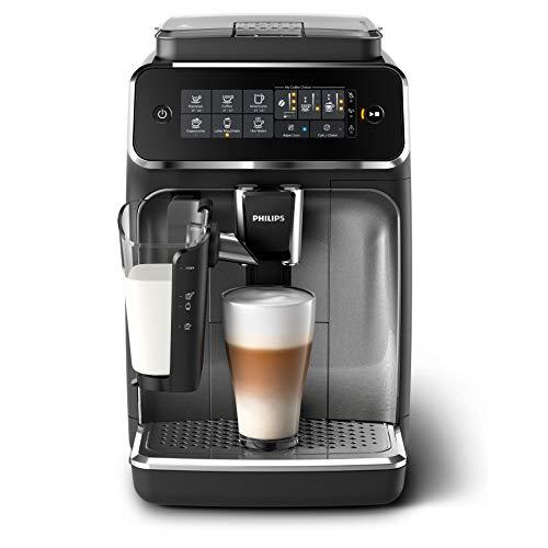 Philips EP3246/70 Serie 3200 - Cafetera super automática, 5 bebidas de café, jarra de leche LatteGo muy fácil de limpiar, molinillo cerámico, pantalla táctil
