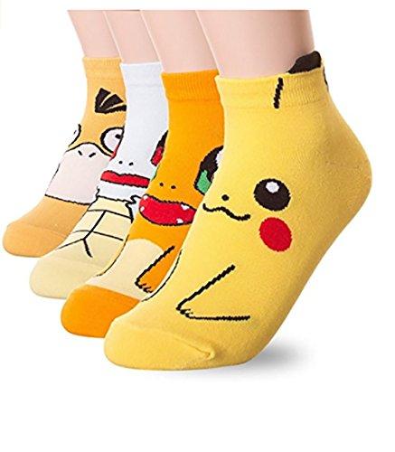 Socken mit Pokémon-Motiv, 4 Paar