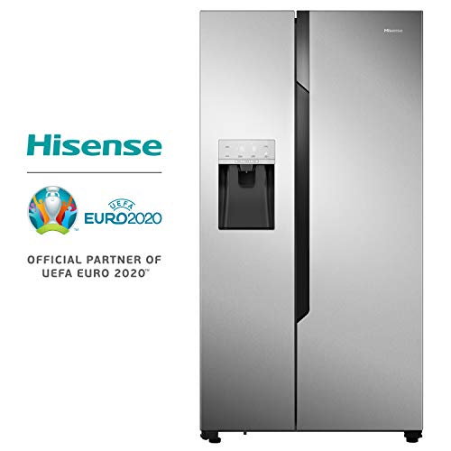 Hisense RS694N4TC2 Independiente 535L A++ Acero inoxidable nevera puerta lado a lado - Frigorífico side-by-side (Independiente, Acero inoxidable, Puerta americana, LED, Tocar, LED)