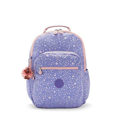 Kipling Seoul Large 15' Laptop Printed Backpack Purple Twinkle