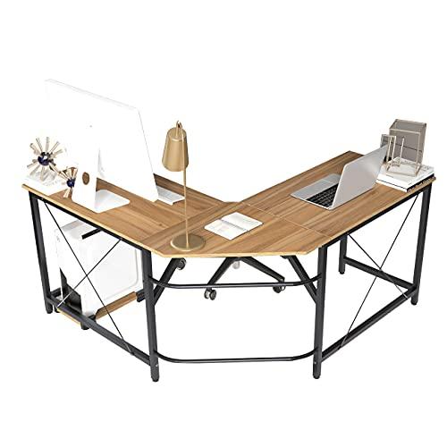 soges Computer Desk L-Shaped Desk Large Corner Desk L(150+150) * W55 * H76 cm Office Table Computer...