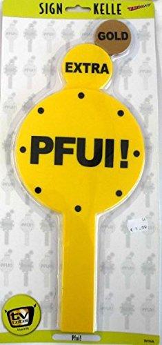 KarnevalsTeufel Original TV Total Kelle Pfui / Respekt, Kelle, Spaßkelle mit Spruch, TV total -Kelle (Pfui)