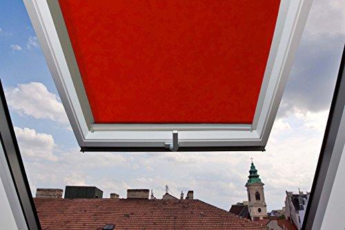 Für Velux Fenster GGU/GGL/GPU/GPL/GHU/GHL/GTU/GTL/GXU/GXL U08 Dachfensterrollo, Verdunkelungsrollos in Rot - 134x140cm (Breite x Länge) - mit seitlichen Führungsschienen aus Aluminium